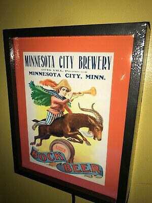 Minnesota City Brewery Beer Bar Man Cave Lighted Advertising Sign