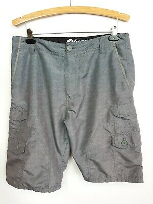 be747c5bf0 Plugg Cargo Shorts Mens 33 Gray 100% Polyester, Lightweight, Quick Dry
