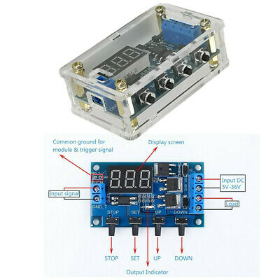 5V 12V 24V DC motor Forward / Reverse Controller Timing