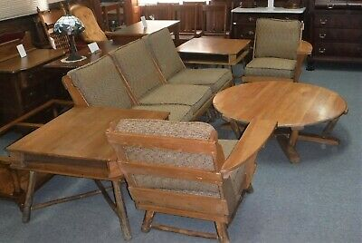 Old Hickory Sectional & Tables  ~ Rustic Modern ~ Martinsville Indiana ~8 pc Set