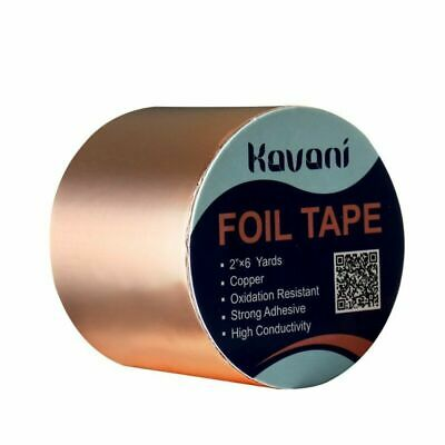"Copper Foil Shielding Tape Conductive Self Adhesive Barrie 6 feet x 2"" 1Roll EMI"