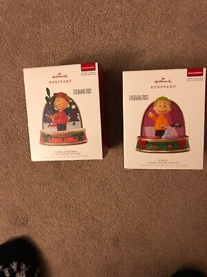 Hallmark Peanuts Storytellers Ornaments 2018 New Charlie Brown  Linus