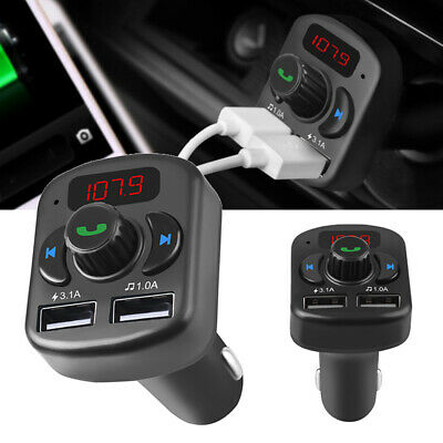 Car Bluetooth Hands-free AUX Audio Receiver FM Adapters Transmitter USB Chargers