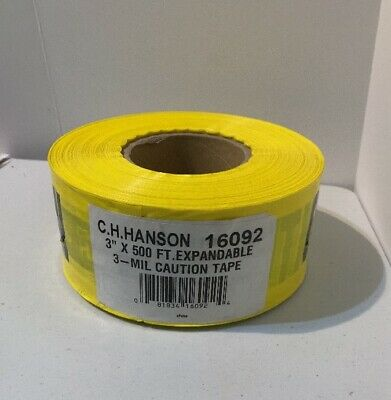GRAINGER APPROVED Plastic Barricade Tape Expndbl Caution 500 ft 16092 Yellow