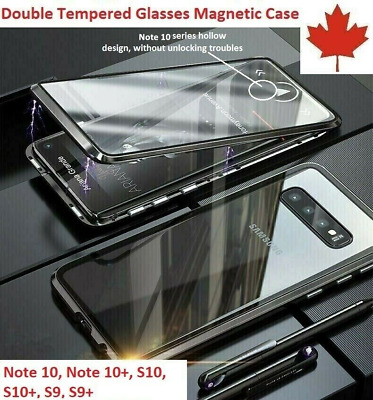 Samsung Magnetic Absorption Full Glass Case Cover Galaxy S10 S10 Plus S9 S9 Plus