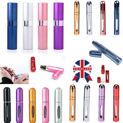 3X Portable Perfume Atomiser Bottle Aftershave Pump Trip Refillable Spray WN