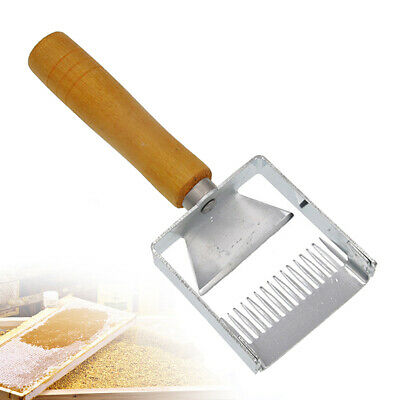 Bee Hive Uncapping Honey Fork Scraper Shovel Stainless Steel Beekeeping Tool New