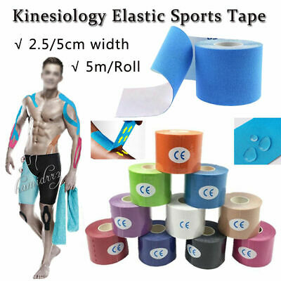 5M Kinesiology Elastic Sports Tape Physio Muscle Tape PRO Pain Relief Support UK