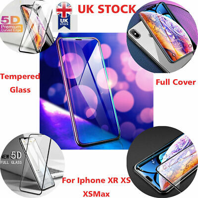 Screen Protector For Iphone XR XS Max Tempered Glass  6D Curved Full Cover