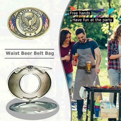 Outdoor Metal Beer Head Belt Funny Bottle Buckle for Camping Can Holder