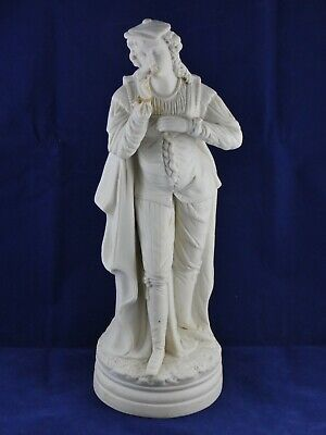 Large Victorian Parian Figure Man In Period Clothes