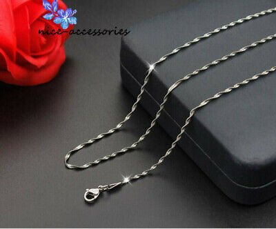 Fashion  316L Stainless Steel Twisted Snake Chain Necklace For Women/Men Chain