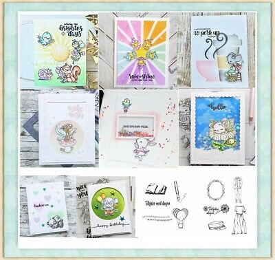 Dancing Animals Prints Transparent Clear Silicone Stamp/Seal card making 4x6in
