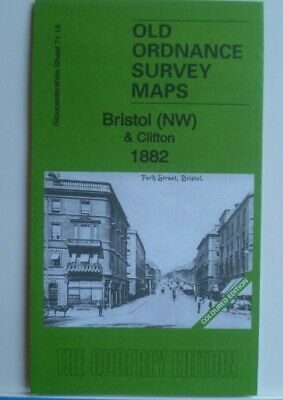 OLD ORDNANCE SURVEY MAPS BRISTOL NW & CLIFTON  GLOUCESTERSHIRE 1882 Godfrey Edit