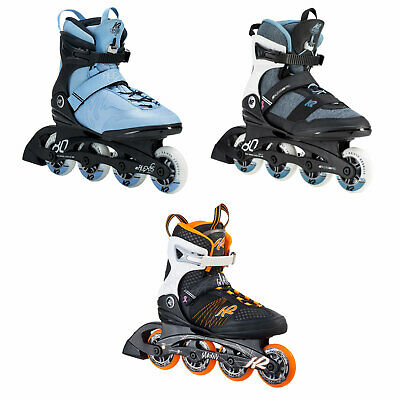 ALEXIS K2 INLINE Roller Skates 9 Black Anatomical White Paint Breast