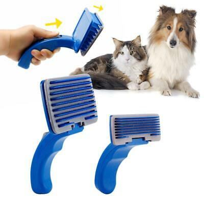 Pet Hair Brush Self Cleaning Dog Puppy Cat Kitten Comb Grooming Rabbit Fur Care