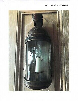 French Tole Lantern, Pair