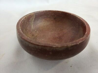 Nice unusual old/antique carved stone bowl #1