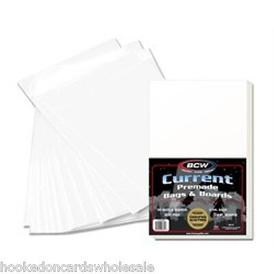 50 BCW Premade Current Comic Book Storage Bags & Backer Boards