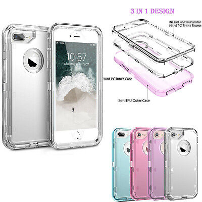 Clear Defender Case For iPhone 11 Pro 6 7 8 Plus X XR XS Max Heavy Duty Cover