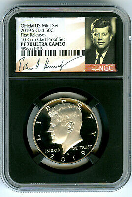 2019 S Kennedy Ngc Pf70 Ultra Cameo Proof Half Dollar First Releases Signature