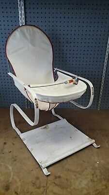 Vintage Teeter-baby Jumper No. 56 Baby Bouncer Canvas Cloth Seat   c.1950's