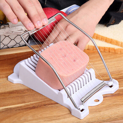 Wire cutting Foods Slicers Bean Curd Spam Egg Slicer Stainless Steel Anti-rust L