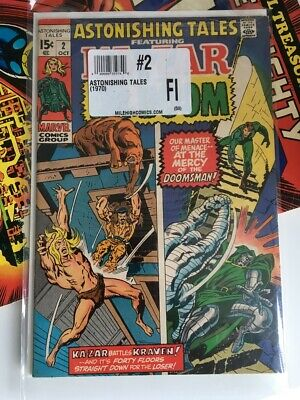 Astonishing Tales #2 Featuring Kazar and Dr.Doom - Oct. 1970