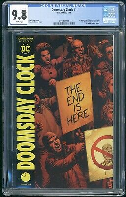 Doomsday Clock #1 - CGC 9.8 NM/MT - DC 2018 - 1st Appearance New Rorschach!
