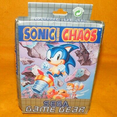 Vintage 1993 Sega Game Gear Sonic The Hedgehog Chaos Cart Video Game Boxed Pal