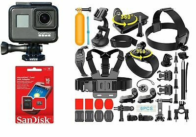 GoPro Hero  2018 Black Sport Action Camera  + 40 Pcs Sports Accessories Kit