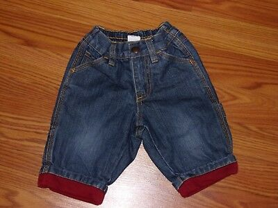 bcc07428e BABY GAP DENIM WARM Lined Overalls Size 6 9 12 Months Cargo 1969 ...