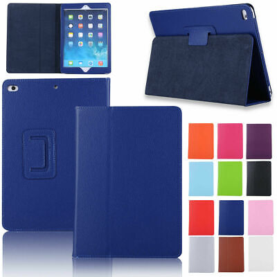 For New iPad 9.7 2018 6th Gen / 2017 5th Leather Flip Case Smart Foldable Stand