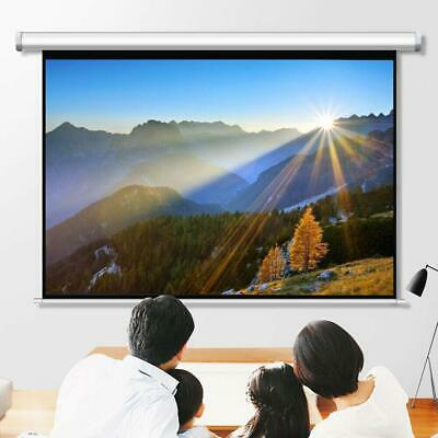 """100"""" Pull Down Projector Screen Meeting Room Home Theater HD Projection"""