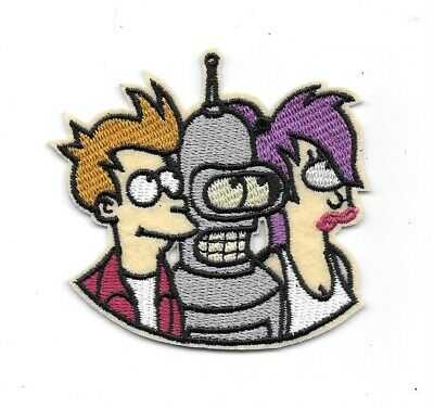 Futurama TV Series Fry Bender Leela Trio Images Embroidered Patch NEW UNUSED