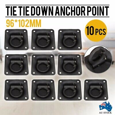 10x Lashing Ring zinc Plated Tie Down Anchor Point 96*102mm UTE Trailer