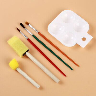Palette Set DIY Kids Children Early Learning Drawing Painting Sponge Brushes LC