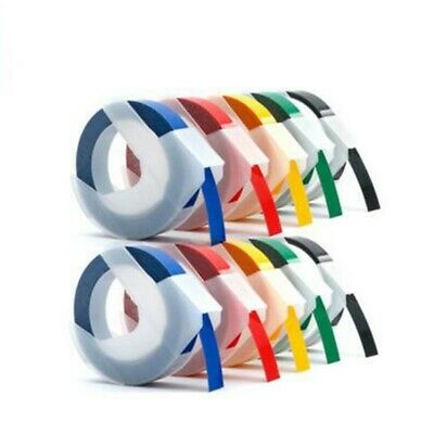 3D Label Maker Manual Embossing Refill Tape Durable Part For DYMO MOTEX 5 Colors