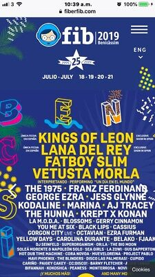 Benicassim Ticket, 4 Day Camping Ticket