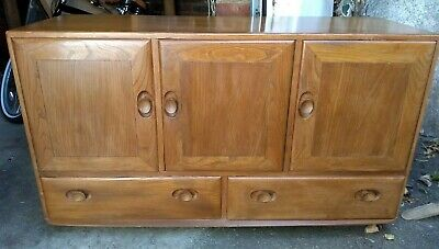 VINTAGE ERCOL WINDSOR SIDEBOARD - Furniture Retro Cabinet Cupboard Mid Century