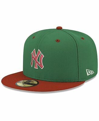 New York Yankees New Era Green Red Fitted Hat Cap 59FIFTY MLB PxSize