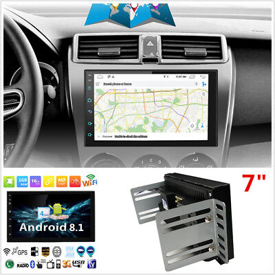 "7"" 1080P 2Din Android 8.1 Car Stereo Radio GPS Wifi 3G/4G BT DAB Mirror Link OBD"
