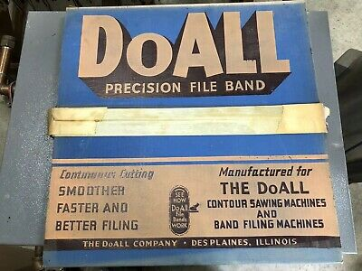 """USED DoAll BAND FILE BLADE 1/2"""" OVAL 120"""" LENGTH 14 TEETH  FREE SHIPPING!!"""