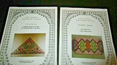 2 Jean Hilton Needlepoint designs French Twist Triumph instructions
