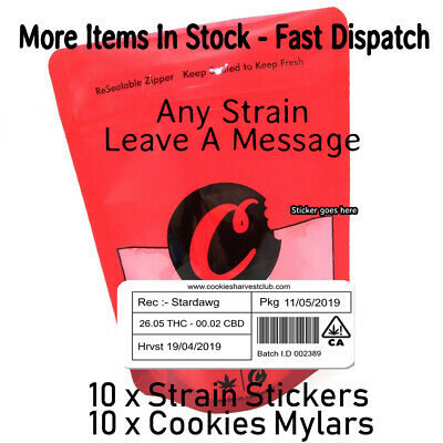 Cookies 28g Mylar Bag & Stickers [ Cali Labels ]