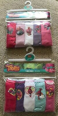 BNWT Girls 10 Pairs Troll Patterned Pants . Age 3-4 Years