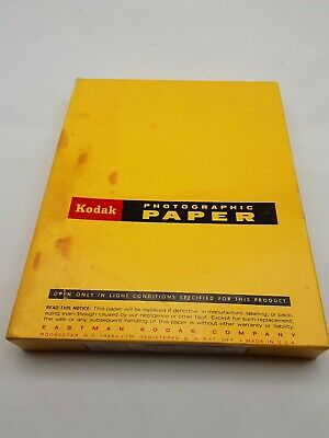 Vintage Kodak Photographic Paper - White 8x10 100 sheets Aug 1972