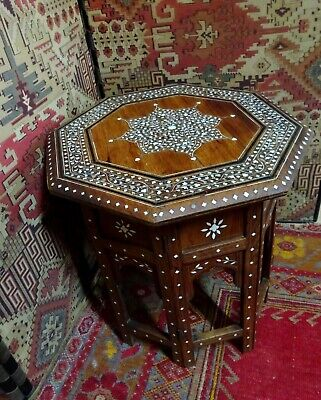 Early 20th Century Moorish Inlaid Folding Occasional Table for Liberty & Co