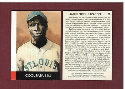 """#28 JAMES """"COOL PAPA"""" BELL, St. Louis Stars   Eclipse Stars of the Negro Leagues"""