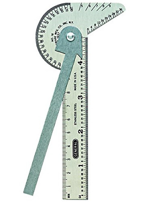 GAUGE MULTI-USE RULE AND GAGE GENERAL TOOL # 16me MEASURE ANGLES CENTER FINDER +